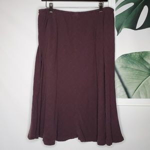 Eileen Fisher Linen Purple Flowy Skirt Lagenlook